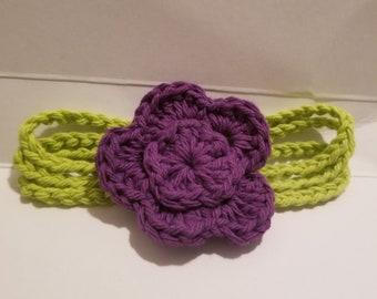 Flower three stem headband