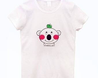 Koala Tshirt, Koala, Women's Koala T shirt, Green Apple, animal Tee, Australia