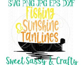 fishing svg, tan lines svg, river life svg, boat svg, girl fishing svg, boat life svg, fishing svg files, SVG, EPS, DXF, PnG, JpG cut file