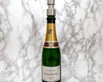 Laurent Perrier Champagne Soap Pump Dispenser (Water Repellent Label) Upcycled Bottle