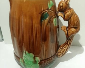 Acorn Jug with Squirrel Handle