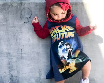 Back to the Future, baby romper, handmade baby clothes, baby bodysuit, custom baby clothes, trendy toddler clothes, hip toddler clothes