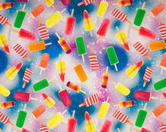 Ice Lolly Digital Cotton Lycra Jersey Knit Fabric