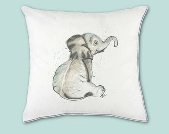 Nursery Art Zoo | Baby Elephant | Watercolor Cushion Cover | Safari Nursery Set | Safari Baby Shower | Home Decor | Housewarming gift | Gift
