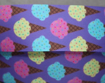 "1.5"" Ice Cream Cone  Design Collar with Side Release Buckle (Martingale Option Available)"