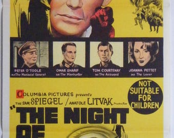 The Night Of The Generals - 1967 - Original Australian daybill movie poster - Peter O'Toole - Omar Sharif
