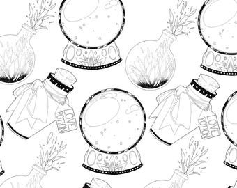 Magical Items Pattern Printable