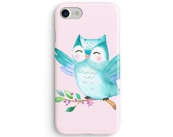 Cute watercolor owl - iPhone 7 case, samsung s7 case, iphone 7 plus case, iphone se case 1P059A