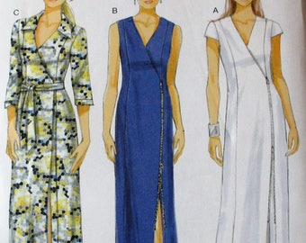 Butterick pattern, B5847, misses fitted and lined dress, sleeve variations, exposed side front zipper closure, sz: 6, 8, 10, 12, 14