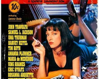 Pulp Fiction Quentin Tarantino Movie Rare Vintage Poster