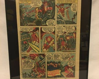 Framed Vintage Comic Book Ad Wall Decor