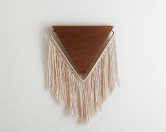 Triangle Fringe Wall Hanging in Cherry