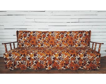 Retro Floral Couch & Armchair