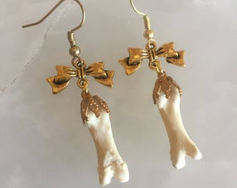 Bow and Bone Earrings