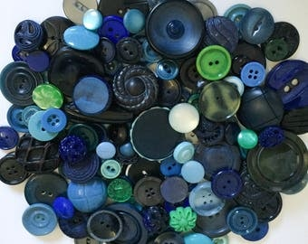 Blue Button Collection Plastic Craft Lot Tight Top Celluloid Coat Buttons Sewing Supplies Celluloid turquoise Green Art Deco