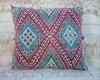 Decorative vintage tribal Berber pillow, handmade.