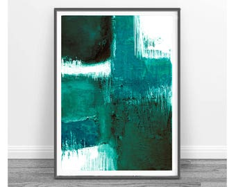 Printable Art, modern abstract, Industrial Decor , Colorful wall art, artwork, Loft art,turquoise and white, teal, Home decor, emerald green