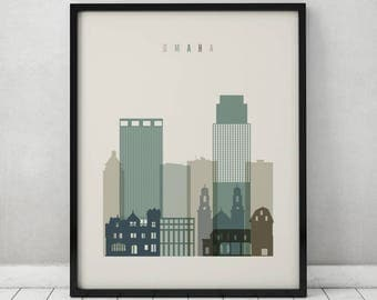 home decor stores omaha omaha skyline etsy 11213