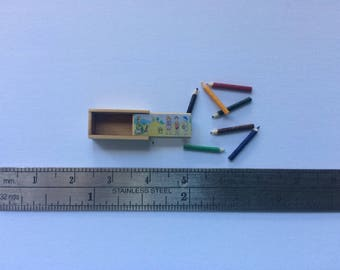 Dollshouse Miniature box of pencils