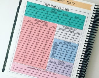 Full Page Monthly Budget Planner Sticker for EC or HP
