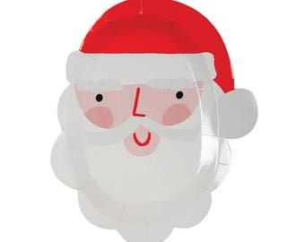 Meri Meri: Small Santa Head Plates