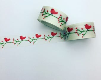 Bird on branch washi tape