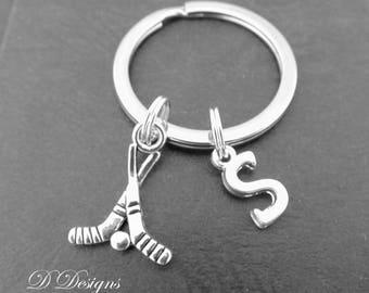 Hockey KeyChain, Hockey KeyRing, Sporty Key Chain, Sporty key ring, Personalised Hockey Key chain, Hockey Gifts