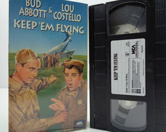Abbott and Costello Keep em' Flying VHS Tape