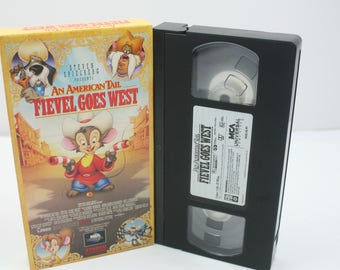 an american tail fievel goes west VHS Tape
