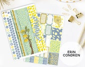 Monthly Planner Stickers Kit Made To Fit The Erin Condren Life Planner | You pick the month!  822L1-2