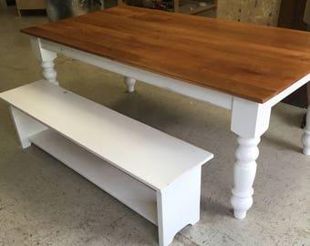 Cherry Farmhouse Table, Dining Room Table, Farmhouse Table, Kitchen Table