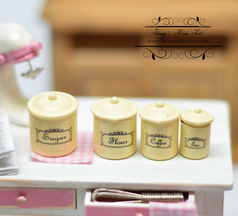 1:12 Dollhouse Miniature Canister Set/Miniature Cookware AZ HH