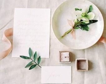 Ring Box - Velvet Ring Box - Vintage Style - Proposal Ring Box - Engagement ring box - Wedding - Personalized Gift - Camel