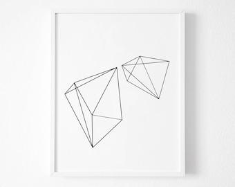 Uvre d art g om trique etsy for Oeuvre minimaliste