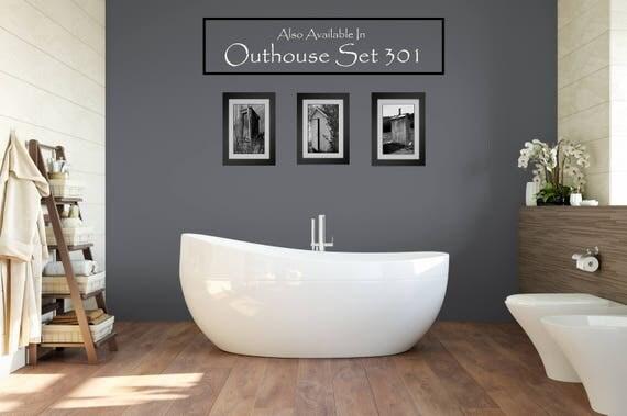 Funny Bathroom Print / Bathroom Wall Art / Powder Room Decor / Modern  Farmhouse Wall Art / Framed Wall Art / Rustic Home Decor / Outhouse