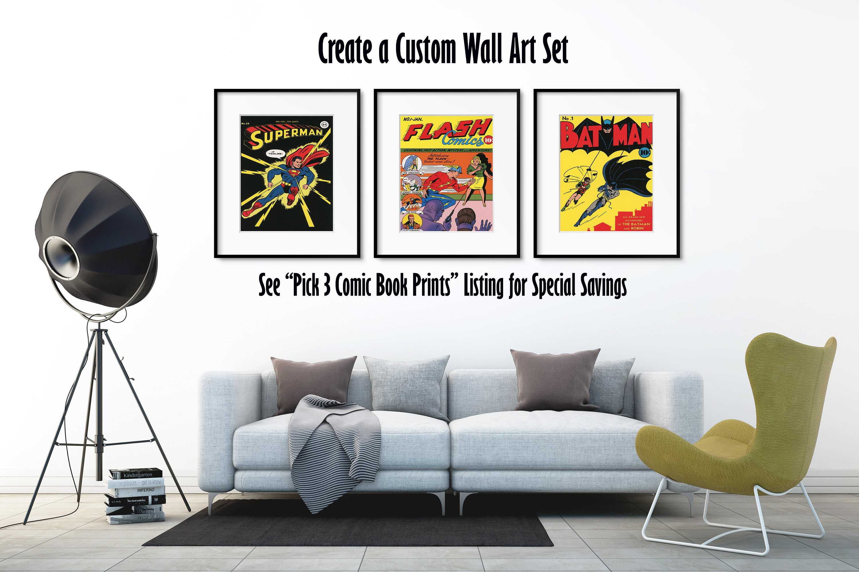 Dc Comics Wall Art superhero wall art / dc comics / the joker / batman poster / dc