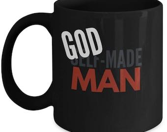 Custom God Made Man Motivational Mug Gift
