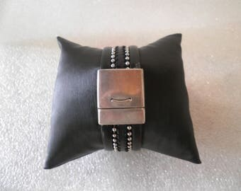 "Bracelet small cuff leather ""Carroll"""