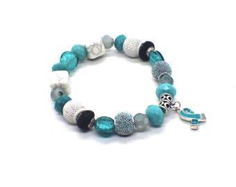 PTSD Awareness - Ptsd Bracelet - FPIES - Ocd Awareness - FPIES Awareness - Ocd Awareness Bracelet - Ovarian Cancer Bracelet - Ocd Gifts