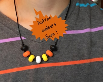 Munched silicone Bead Necklace
