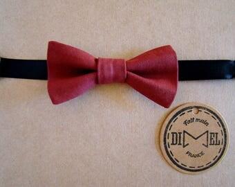 Bow tie child boy girl adjustable Burgundy baby on command