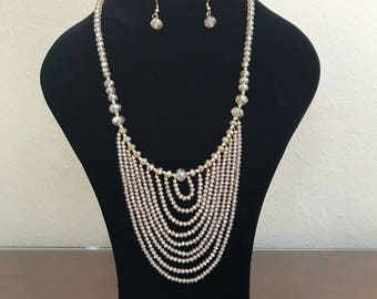 Beautiful long necklace and earrings