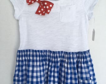 Red White Blue Toddler Dress 2T