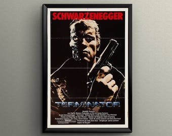 """The Terminator Arnold Schwarzenegger Movie Poster Giclée Printed 24"""" x 36"""" or 18"""" x 24""""! Great Gift"""
