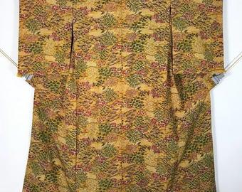 KM381 Vintage Japanese Kimono Womens Silk