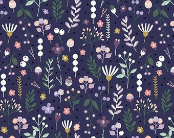 Forest Talk in MOUNTAIN FLORA PURPLE by Cathy Nordstrom from Andover Fabrics - 1/2 yard