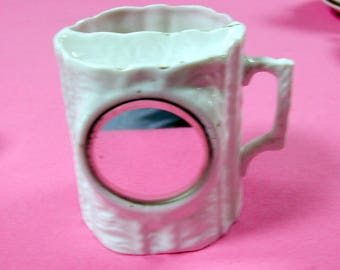 Vintage Shaving Mug with Mirror