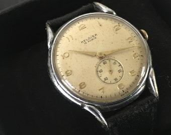 Rare Vintage Gents 1950s Heloisa watch in original condition
