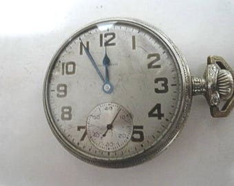 1911 Waltham Pocket Watch 17 Jewel Movement Running Size 16 48mm