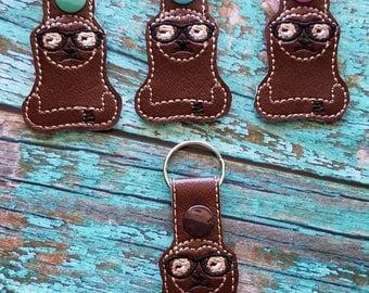 Snarky Sloth Keychain